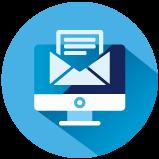 Icoon van emails